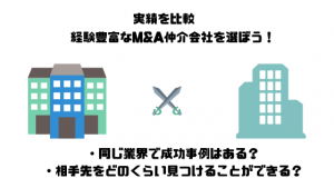 M&A仲介会社_比較_実績を比較