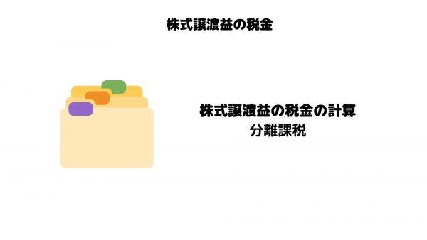 株式譲渡益_税金_計算_分離課税