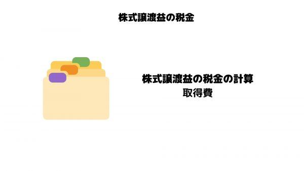 株式譲渡益_税金_計算_取得費