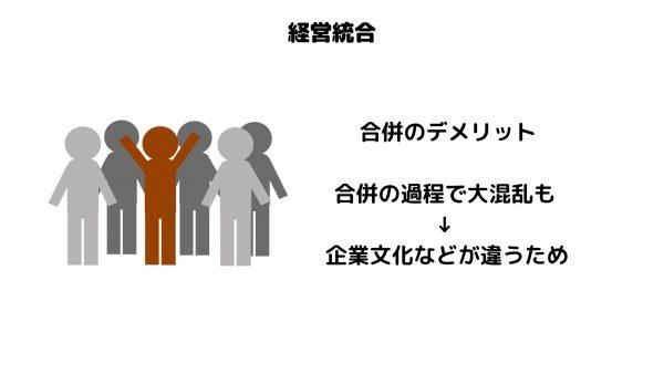 経営統合_合併のデメリット_企業文化