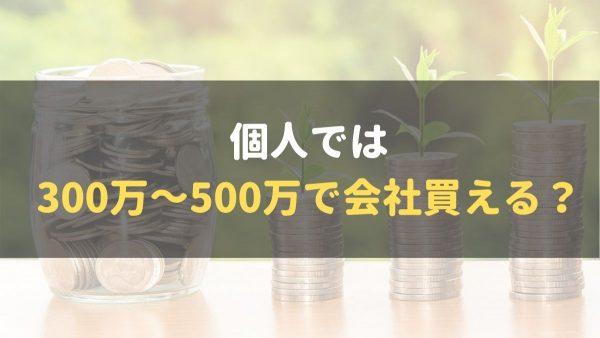 個人M&A_300万~500万で会社_購入