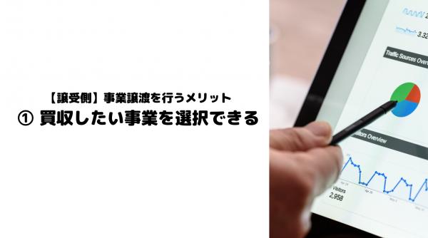 事業譲渡_メリット_譲受側_買収_事業_選択
