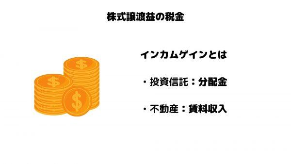 株式譲渡益_税金_インカムゲイン