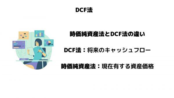 DCF法_時価純資産法_違い