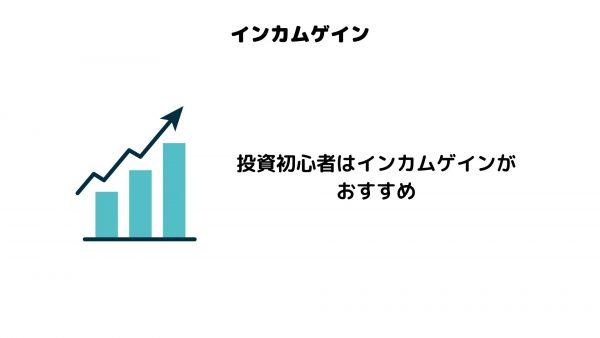インカムゲイン_投資初心者_おすすめ