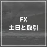 FX_土日