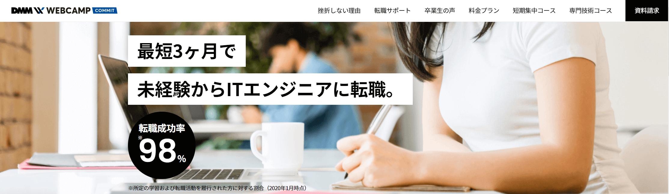 プログラミングスクール_安い_おすすめ_dmm_web_camp