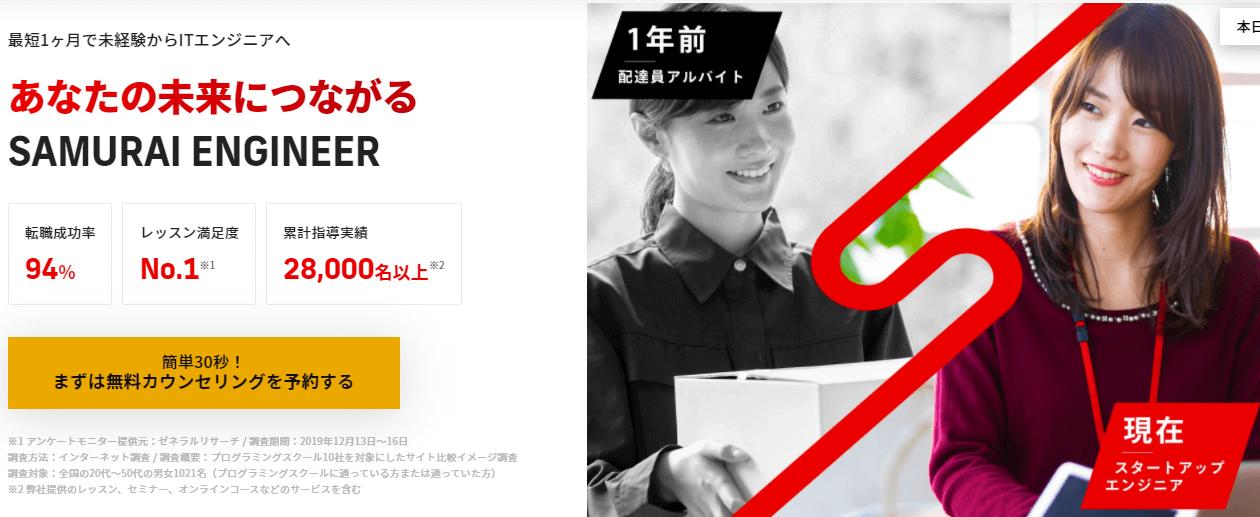 プログラミングスクール_おすすめ_社会人_侍エンジニア塾